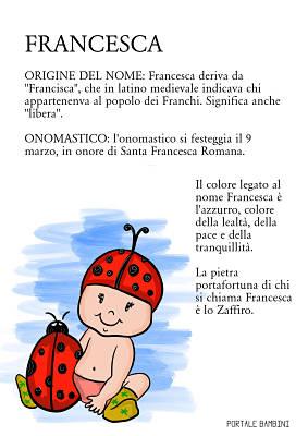 francesca origine significato nome e onomastico