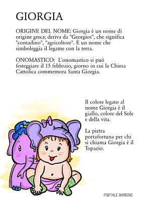 giorgia origine nome significato onomastico