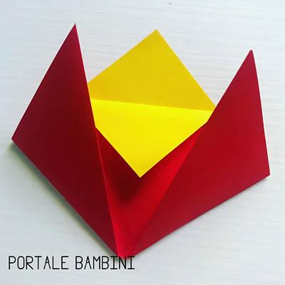 origami fiore facile 3