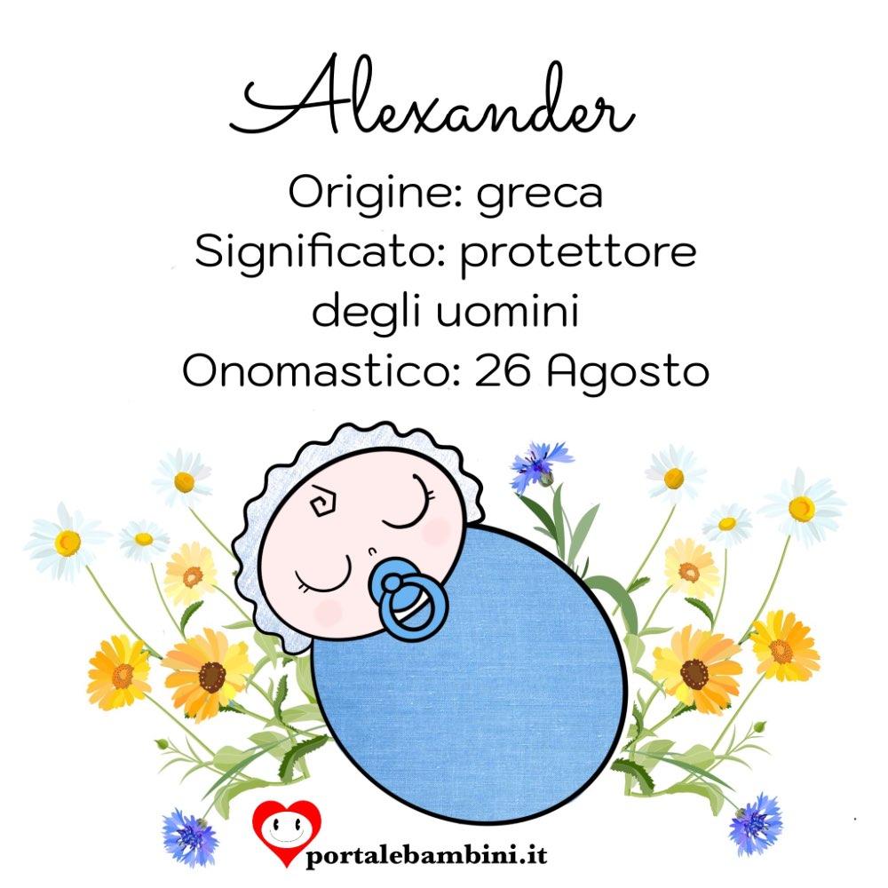alexander origine e significato del nome