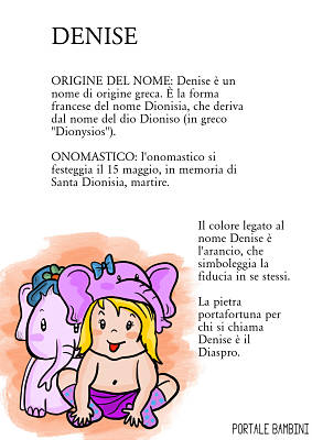 denise origine significato nome onomastico
