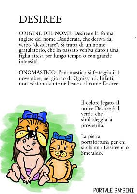 desiree origine significato nome onomastico