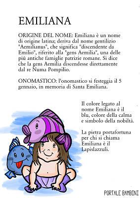 emiliana origine significato nome onomastico