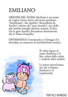 emiliano origine significato nome onomastico