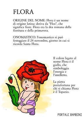 flora origine significato nome onomastico