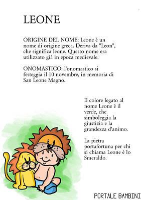 leone origine significato nome onomastico