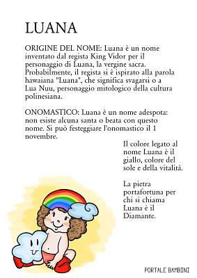 luana origine significato nome onomastico