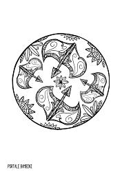 mandala da colorare zodiaco sagittario