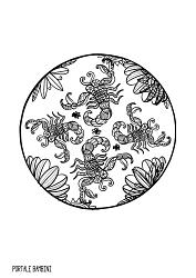 mandala da colorare zodiaco scorpione
