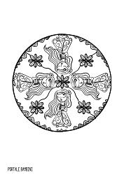 mandala da colorare zodiaco vergine