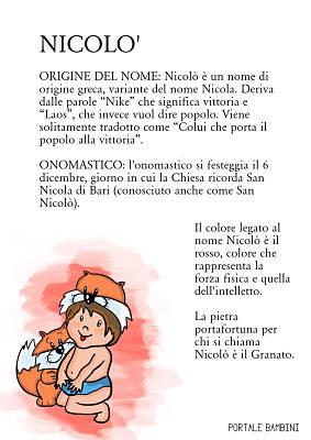 nicolò origine significato nome onomastico