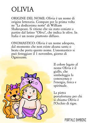 olivia origine significato nome onomastico