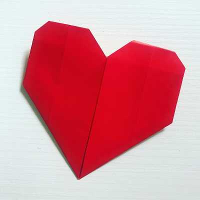 origami cuore di carta