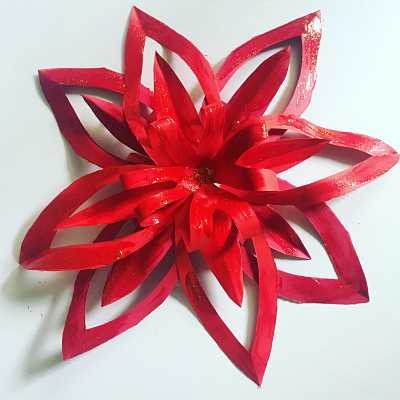 Immagini Stella Di Natale Glitter.Stella Di Natale Di Carta Fai Da Te Guida Passo A Passo