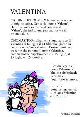 valentina origine significato nome onomastico