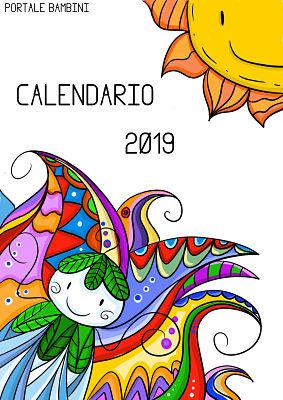 Calendario Mese Di Luglio 2019 Da Stampare.Calendario Illustrato Da Stampare 2019 Portale Bambini