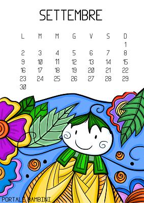 Calendario Illustrato Da Stampare 2019 Portale Bambini