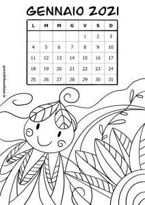 calendario da stampare gennaio