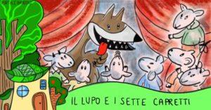 fiabe e storie per bambini il lupo e i sette capretti