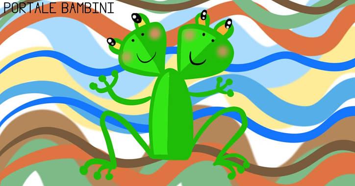 la rana a due teste