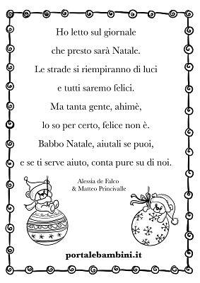Poesie Di Natale Corte Con Rime.Poesie E Filastrocche Di Natale Portalebambini It