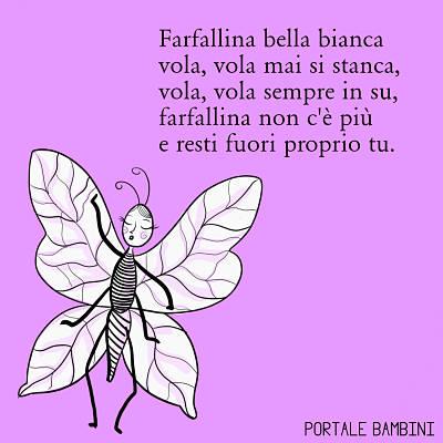 conte italiane per bambini farfallina bella bianca