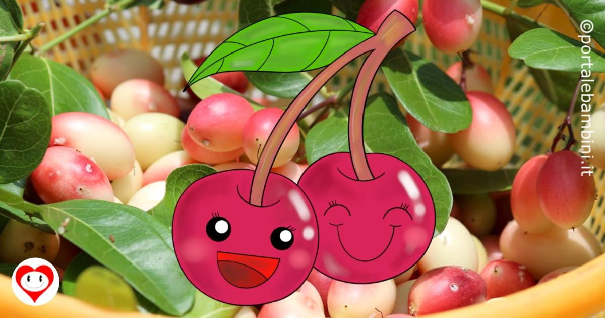 ciliegie da colorare