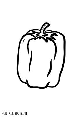disegni peperone da stampare e colorare