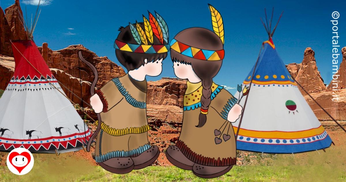 indiani da colorare