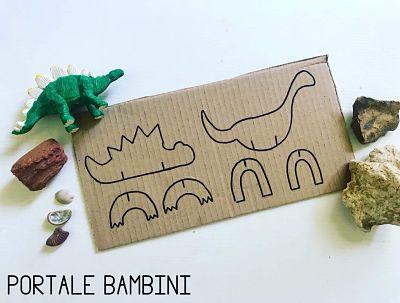 animali e dinosauri di cartone