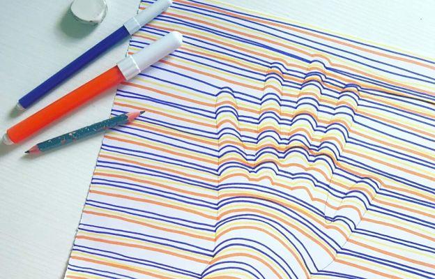 disegni 3d con matita e pennarelli tutorial portale bambini
