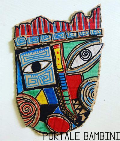 maschere di cartone