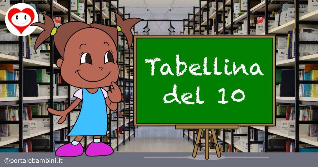 tabelline scuola primaria tabellina del 10