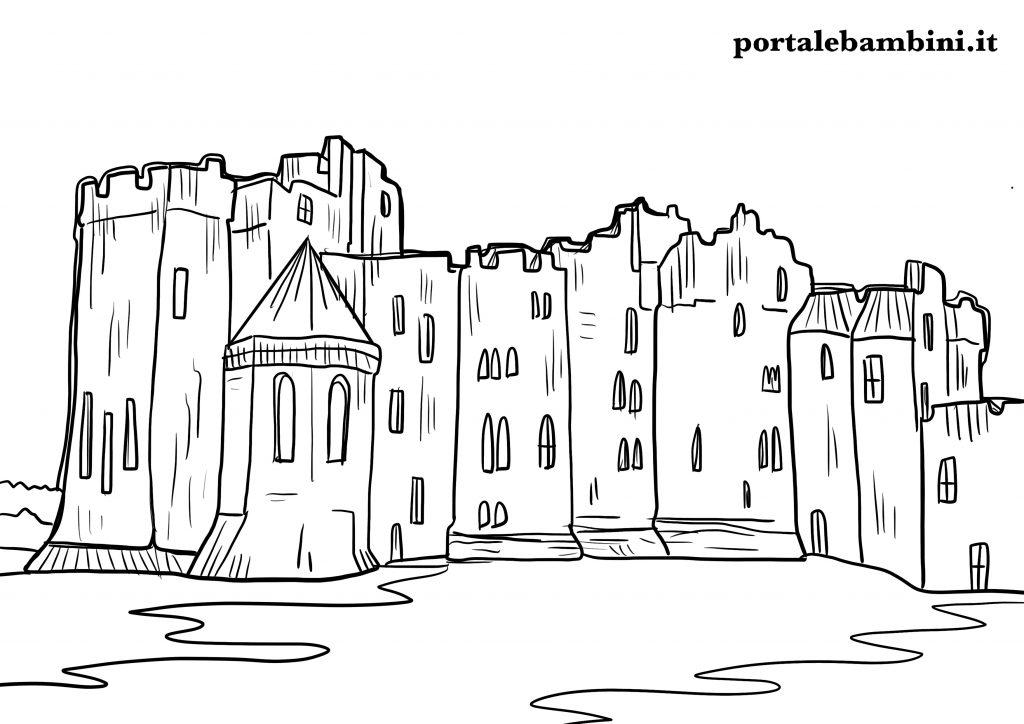castello da colorare 4