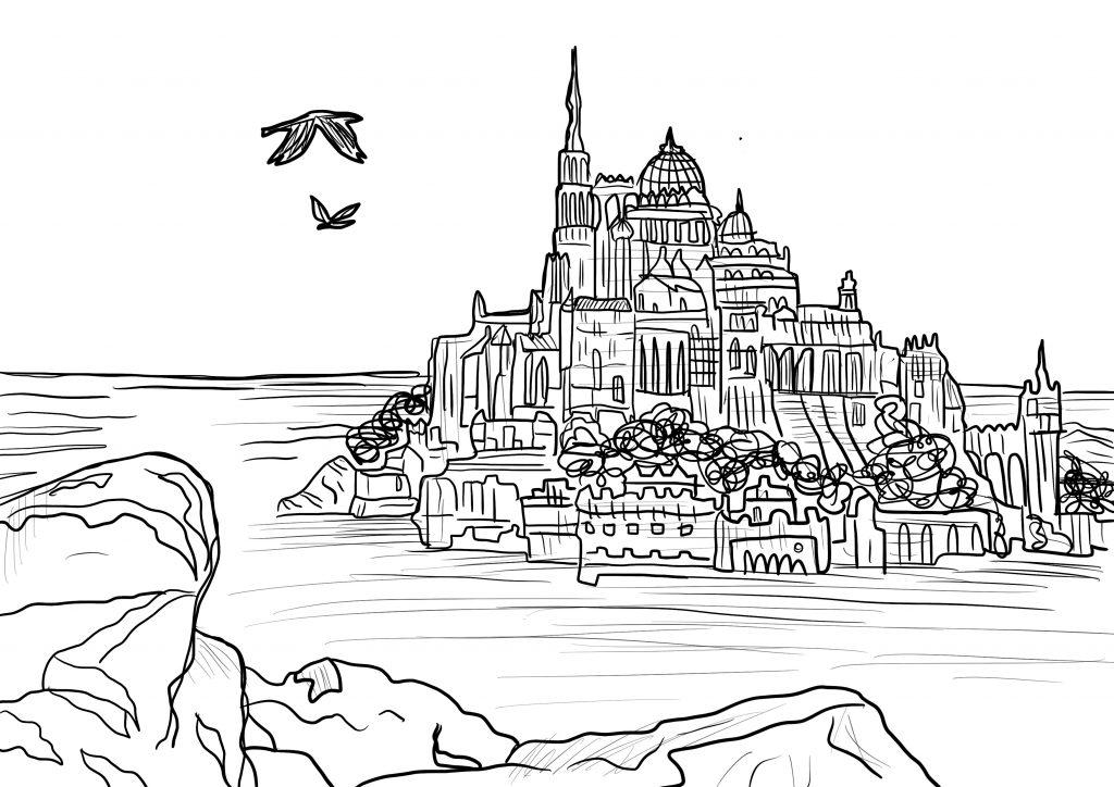 castello da colorare 6