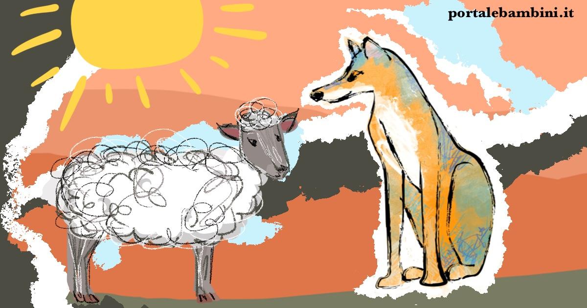 il lupo e l'agnello favola di Esopo e fedro