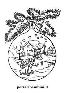Disegni Paesaggi Di Natale.Disegni Di Palline Di Natale Da Stampare E Colorare Portale Bambini