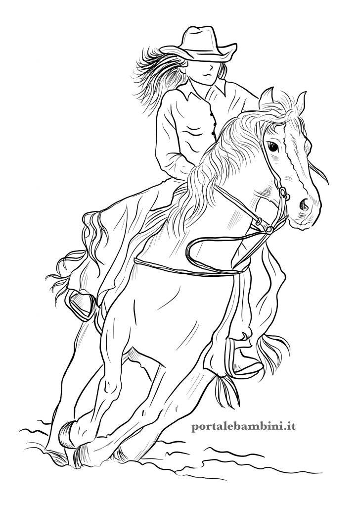 disegni di cavalli da stampare e colorare per bambini 1