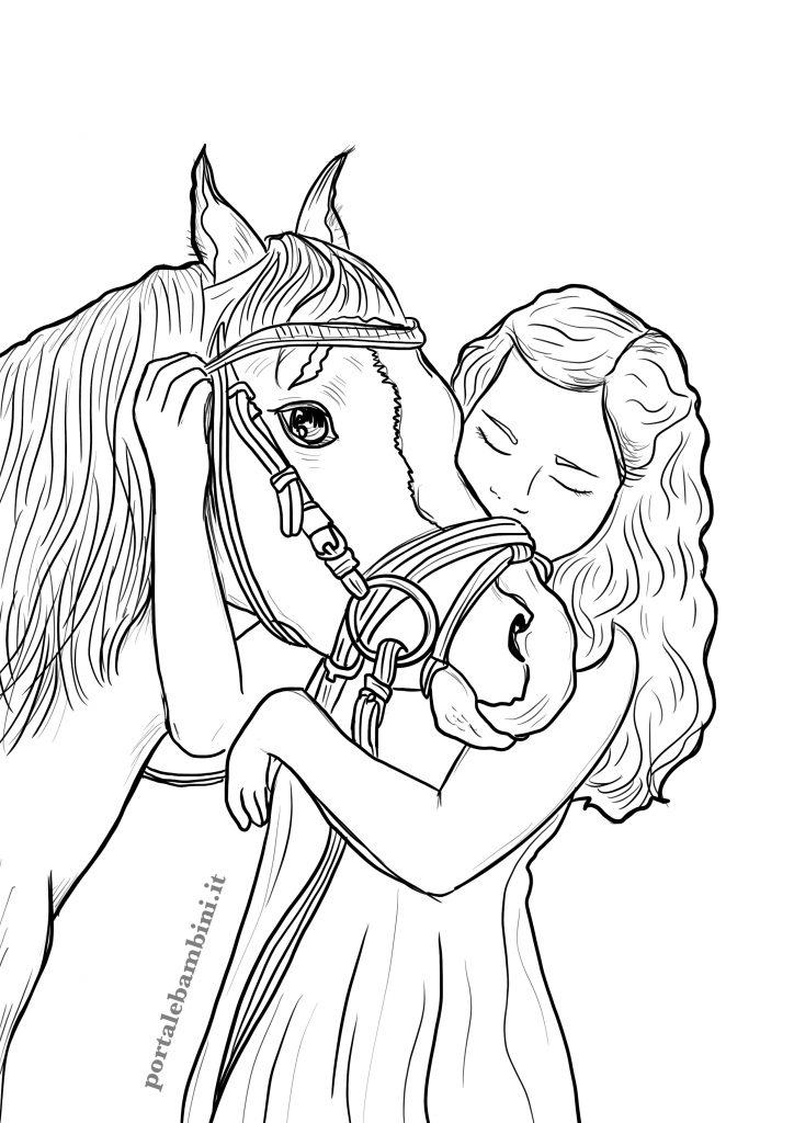 disegni di cavalli da stampare e colorare per bambini 2
