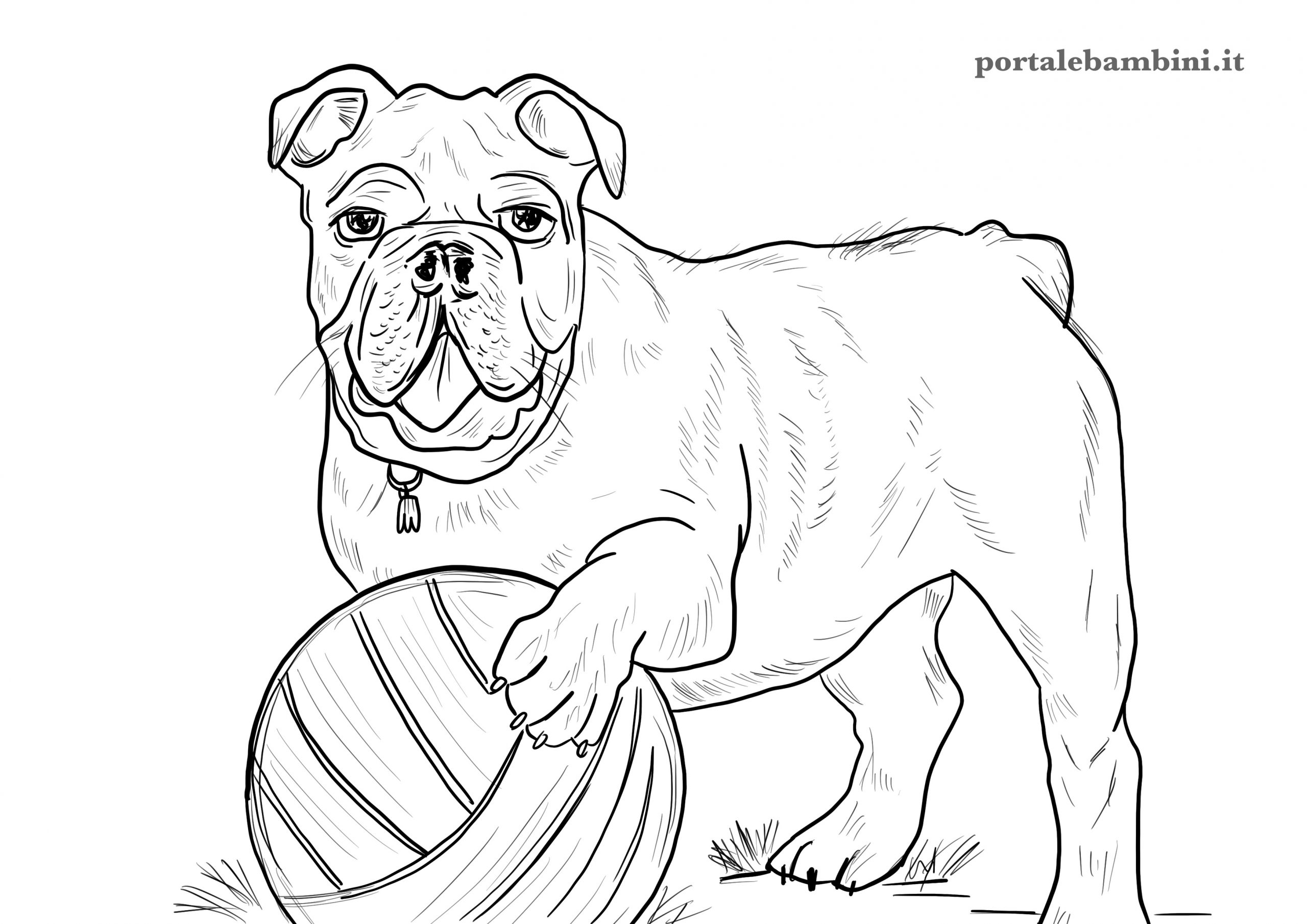 disegni di cani da stampare e colorare