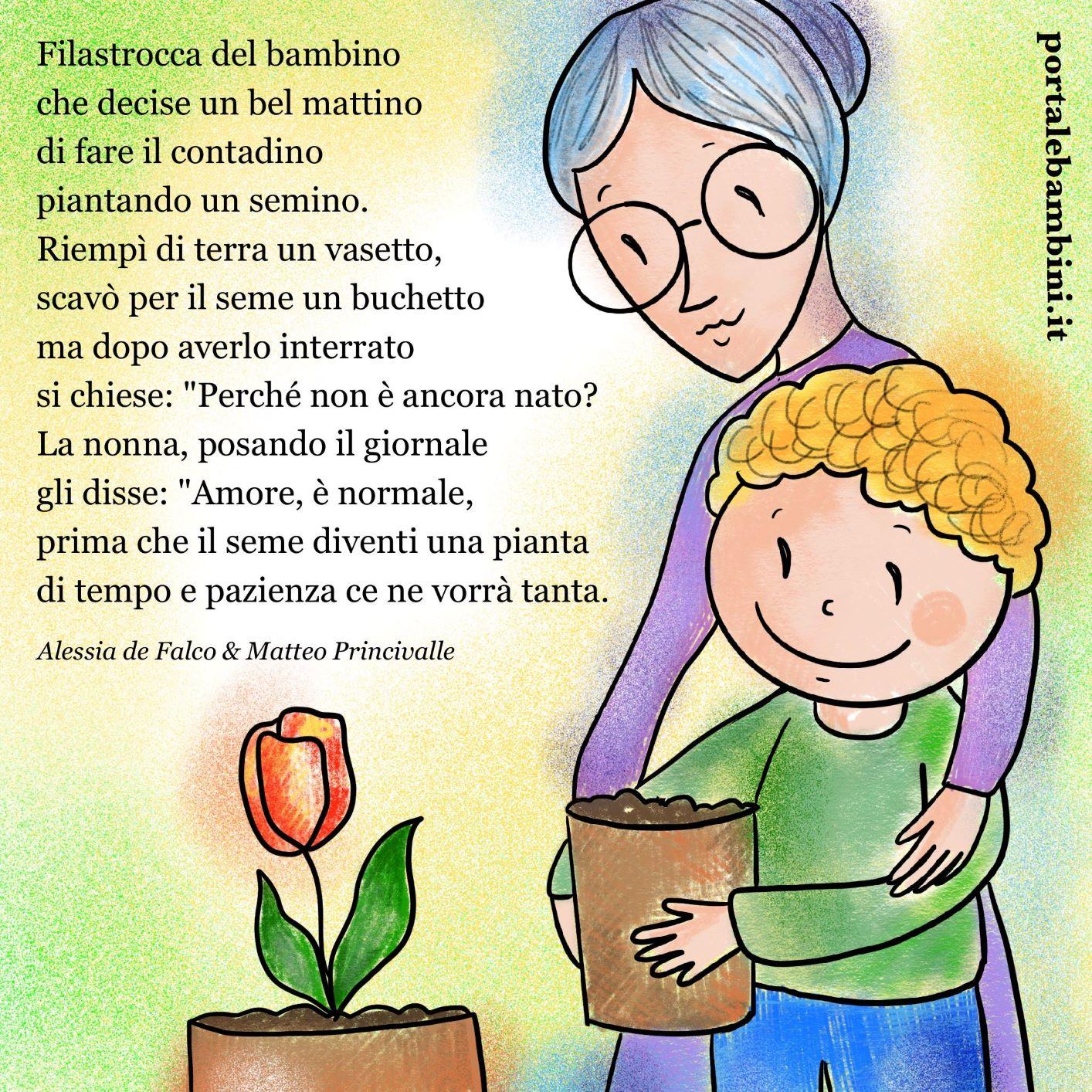 filastrocche per bambini il semino