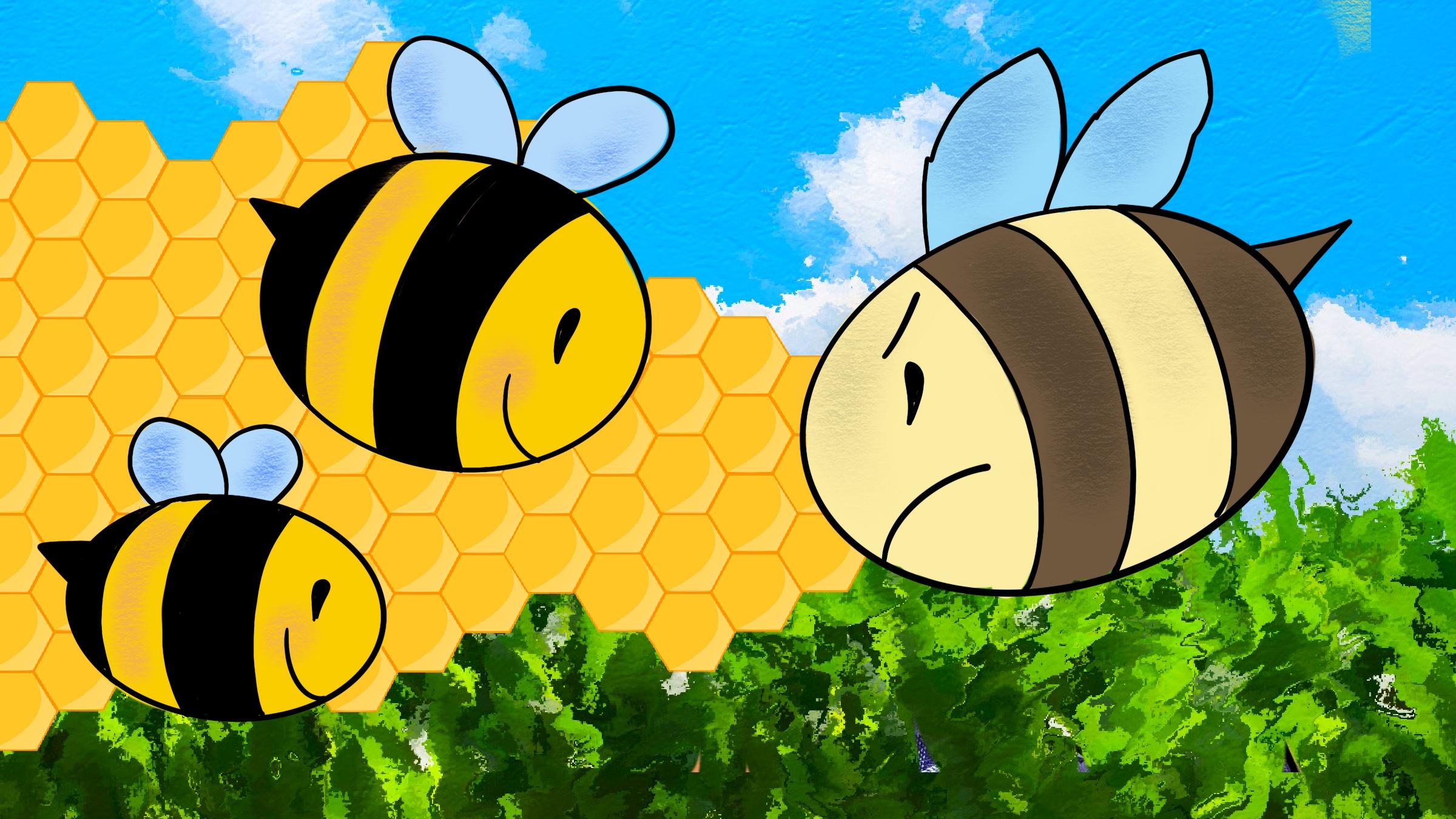 i calabroni e le api
