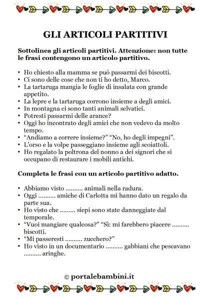 gli articoli partitivi schede didattiche scuola primaria 1
