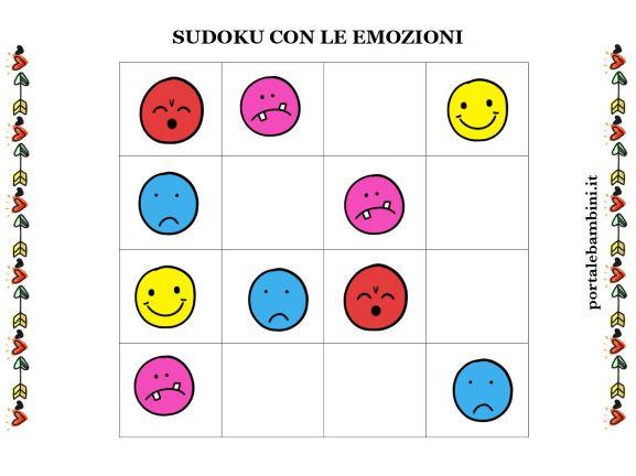 sudoku per bambini con forme da stampare 1