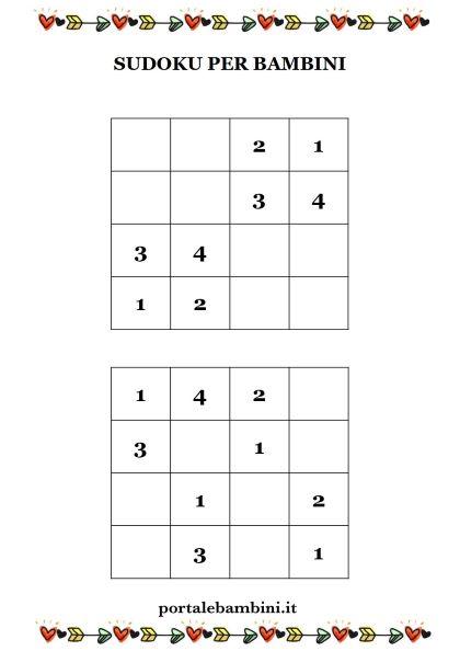 sudoku per bambini 1