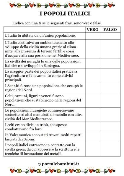 i popoli italici schede didattiche scuola primaria 1