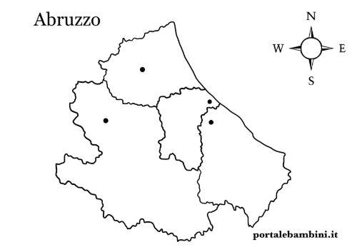 Cartina Abruzzo Umbria.L Abruzzo Approfondimenti E Materiale Didattico Portalebambini It