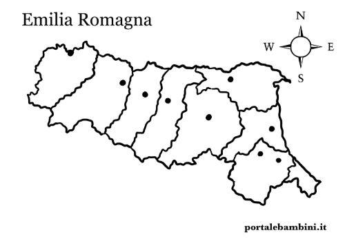 Cartina Muta Emilia Romagna.L Emilia Romagna Approfondimenti E Materiale Didattico Portalebambini It