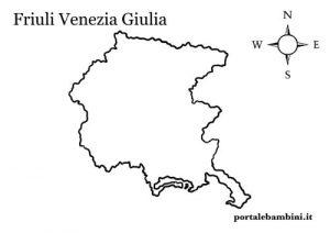 Cartina Friuli Venezia Giulia.Il Friuli Venezia Giulia Materiale Didattico Portalebambini It