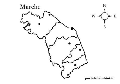 Marche Cartina Province.Le Marche Approfondimenti E Materiale Didattico Portalebambini It